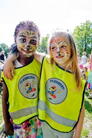 Fina tigermålningar hade Tisbay Bajaha och Sarah Charade. De kommer från förskolan Gränden.