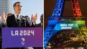 Los Angeles och Paris återstår i kampen om att få arrangera sommar-OS 2024 efter att Budapest dragit sig ur.