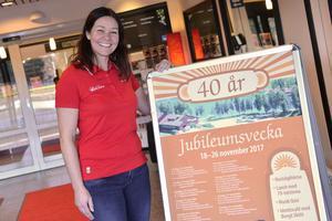 Anläggningschef Sarah Larsson ser fram emot jubileumsveckan.