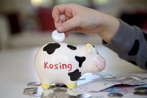Framtida kassako? Bankerna vill lära barn om vardagsekonomi.foto: scanpix