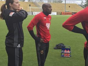 Fouad Bachirou under tisdagens träning.