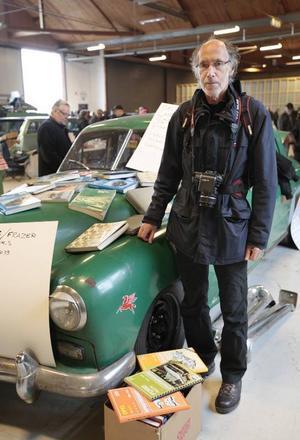 Göte Högbom, ordförande för Jemtlands veteranbilklubb.