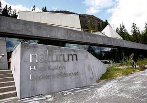 Nya Skule naturum är till stora delar byggd i betongmaterial och därför kan inte vatten som läcker in ställa till så stor skada.