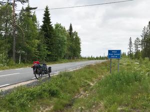 Många backar har cyklats upp för under resan hittills.