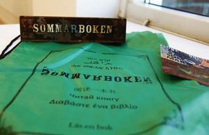 Bokpåse till barnen under sommaren 2016 från Timrå bibliotek.