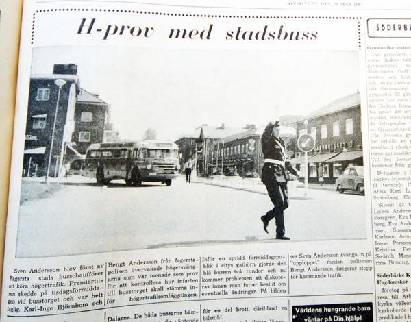 Under 1967 skrevs många artiklar om den berömda omställningen till högertrafik. Minns du dagen den dagen på hösten? Hör gärna av dig till oss på Fagersta-Posten, så kan vi berätta om det vid 40-årsminnet av händelsen nu i höst.