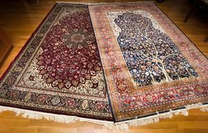 En köpare betalade 14 000 kronor för de här mattorna, men det visade sig att de bara var värda ett par hundralappar.