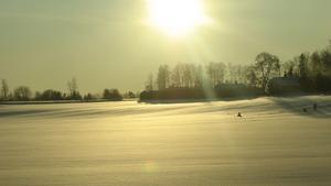 Fångade denna vinteridyll ifrån bilfönstret en vacker januaridag någonstans mellan Västerås och Stockholm.