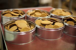 Kronans pepparkakor tillverkas enligt ett recept från 1928.
