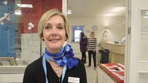 Kristina de Linares, bibliotekarie, ordnade fest för eleverna på Internationella Engelska Skolan.