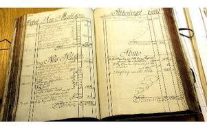 I Ludvika Bruks avräkningsbok från år 1767 står överst sirligt skrivet på finpapper hur mycket träkol Jan Mattsson i Abborrberg betalats för, framkört fram till bruket. Boken på Länsarkivet.