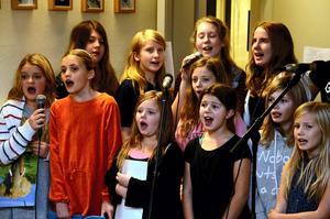 Kören. Norra Vätterns musikskola sjunger tillsammans med Ingemar Olsson.