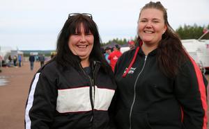 Annica och Angelica Larsson från Färnäs tävlar i samma  klass, Super Gas.