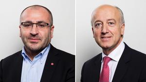 Riksdagsledamöterna Yilmaz Kerimo (S) och Robert Halef (KD) från Södertälje.