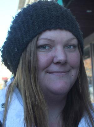 Angelica Nordin, Sollefteå:– Nej, och jag är inte rädd för det.