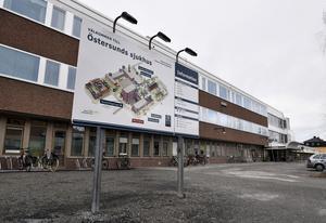 Östersunds sjukhus dit flera av de skadade i söndagsmorgonens bussolycka fördes.