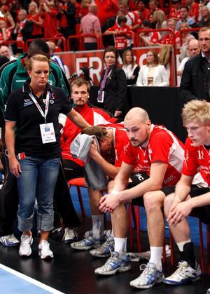 Micke Johansson deppar efter Guifs finalförlust mot Alingsås i Globen för två säsonger sedan.