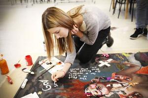 November Miriam Falkensson från Hansåkerskolan var en av eleverna på workshopen