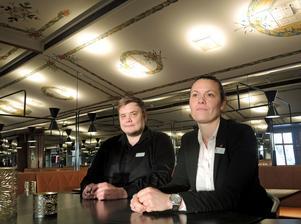Oskari Katainen och Emelie Lundgren tror på ett växande krogliv i Borlänge..