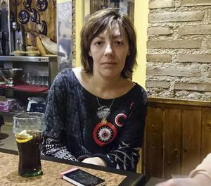 Sonia Díaz Trenado, 30 år, som befann sig på Atocha när bomberna utlöstes den 11 mars 2004, i Madrid den 28 februari.Foto: Henrik Samuelsson / TT / kod 10510