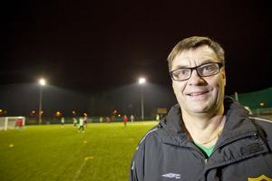 Härje Lindgren i sportkommittén hymlar inte om ambitionsnivån i Hudiksvalls FF – det givna målet är division 1.