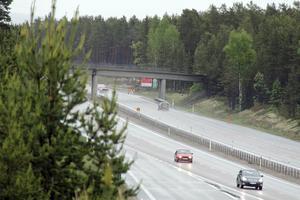 Norrgående körfält stängs av i fyra dagar vid Trafikplats Sörberge.