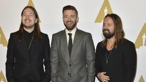 Shellback, från vänster, Justin Timberlake och Max Martin. Arkivbild.