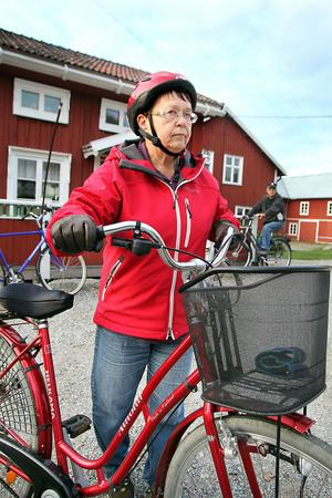 Ellen Sjödin konstaterar att konditionen har blivit bättre tack vare cyklingen.