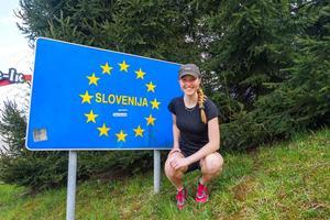 Efter passagen av Alperna i österrike kom Fredrika Ek till Slovenien.