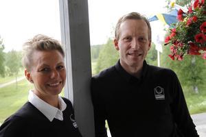 Görel Groos och Niklas Dahlgren har gott hopp om framtiden för Sörfjärdens GK.