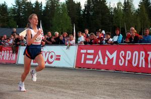 Ulrika Mähler på upploppet 1999.