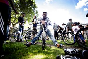 Samuel Teklukia kan cykla redan.