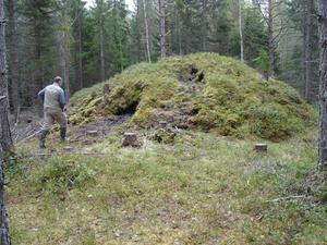 I boken finns bilden av milan, som ligger alldeles söder om länsgränsen. Trots utgrävning och inventering kan man inte helt fastslå varför den övergavs.