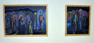 Två av Eva Jonssons senaste verk: Höstvisa 1 och 2