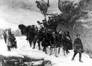 Karl XII:s likfärd, skildrad av Gustaf Cederström: inget för historiker att berätta om.