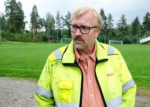 Underhållsingenjören Per Sundqvist från Eon hoppas mycket på den nya drönartekniken.
