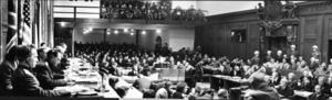 Arkivbild/TTMellan den 20 november 1945 och den 1 oktober 1946 hölls krigsförbrytartribunalen i Nürnberg där de huvudanklagade ur nazistregimen ställdes inför rätta och fälldes för sina krigsförbrytelser. Tolv av dem dömdes till döden genom hängning.
