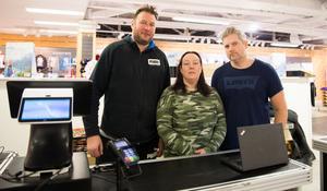 Fredric Tarrier, Petra Tarrier och Jonas Almquist startade i början av året upp Mixa outlet i Team sportias gamla lokaler.