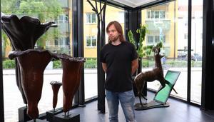 Johan Frids diorama är en av tre utställningar som visas på konsthallen i sommar.