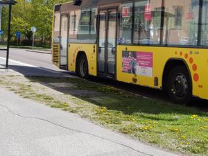 Det har gått över ett år sedan Eivor skadades i olyckan med bussen. Det tog tid innan hon vågade åka buss igen. Bilden är tagen vid ett annat tillfälle.