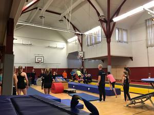 I dag är hallen inte anpassad för truppgymnastik, men med relativt enkla åtgärder skulle det kunna bli en motorikhall för de mindre, menar Anette Lilja.