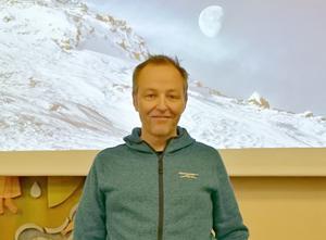 Astrofotografen Göran Strand besökte höstmötet. Foto: Inger Breil
