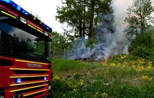 Branden på bilden har ingenting med händelsen att göra.