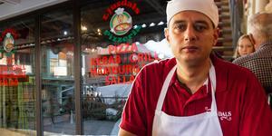 På fredagen öppnade Safwan Hasino Ljusdals Pizzeria i Kick saloons gamla lokal vid Postplan.
