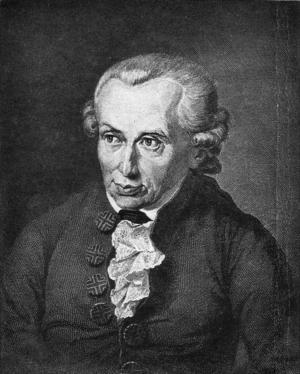 Immanuel Kant. Stålgravyr av  J. L. Raab från 1791 efter en målning av Döbler.