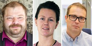 Rickard Carlsson, SD, Jennie Forsblom, KD, och Patrik Stenvard, M, är nya som regionråd i opposition.