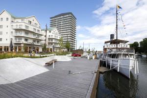 Snart finns det tre restauranger i den nya stadsdelen Norrtälje Hamn. Salt & Sea kommer att öppna i början av juli.