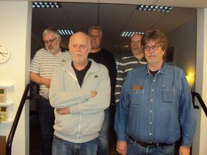Silvermedaljörerna med från vänster Kent Karlsson, Kjell Karlsson, Jimmy Herrdin, Joachim Börgel och Tommi Ramstedt.