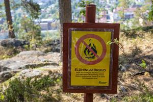 Värme och torkan gör att brandrisken är mycket stor i hela länet så därför är det eldningsförbud i hela Västernorrland.