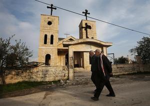 Syrisk-ortodox kyrka i byn Judeida i Idlibprovinsen i Syrien. Foto: Hussein Malla/AP Photo